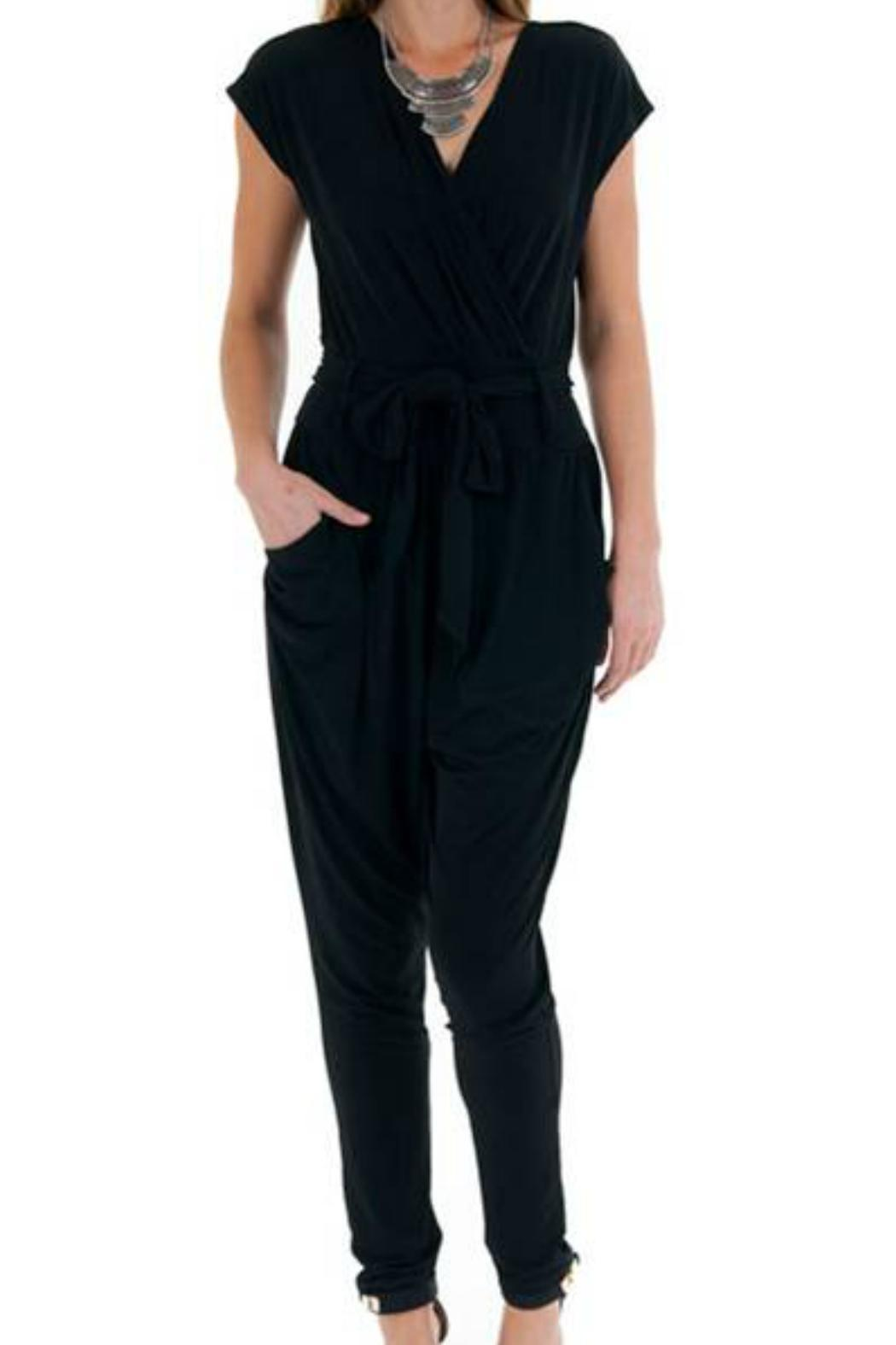 Double Zero Cap Sleeve Jumpsuit - Front Cropped Image