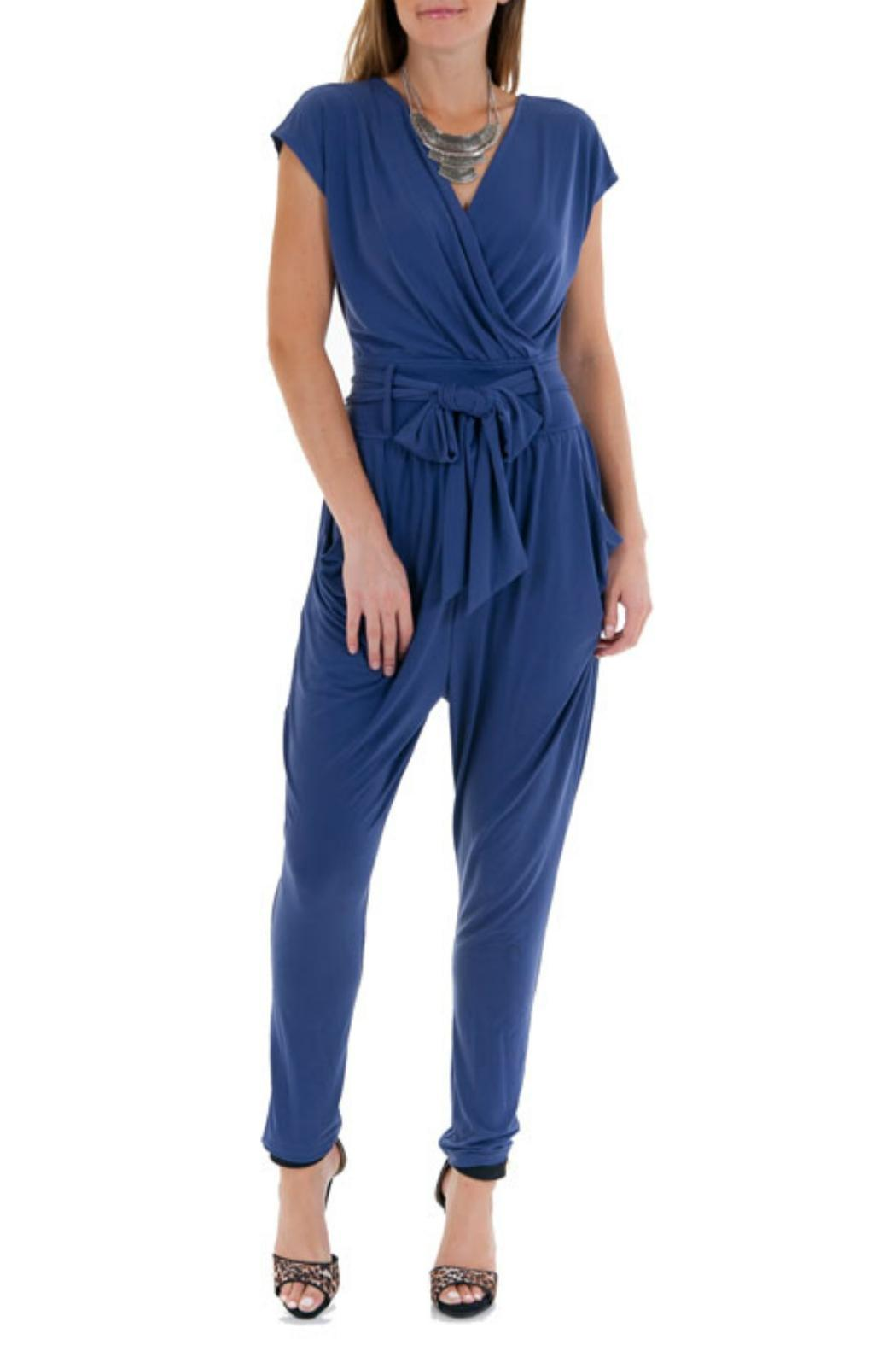 Double Zero Cap Sleeve Jumpsuit - Main Image