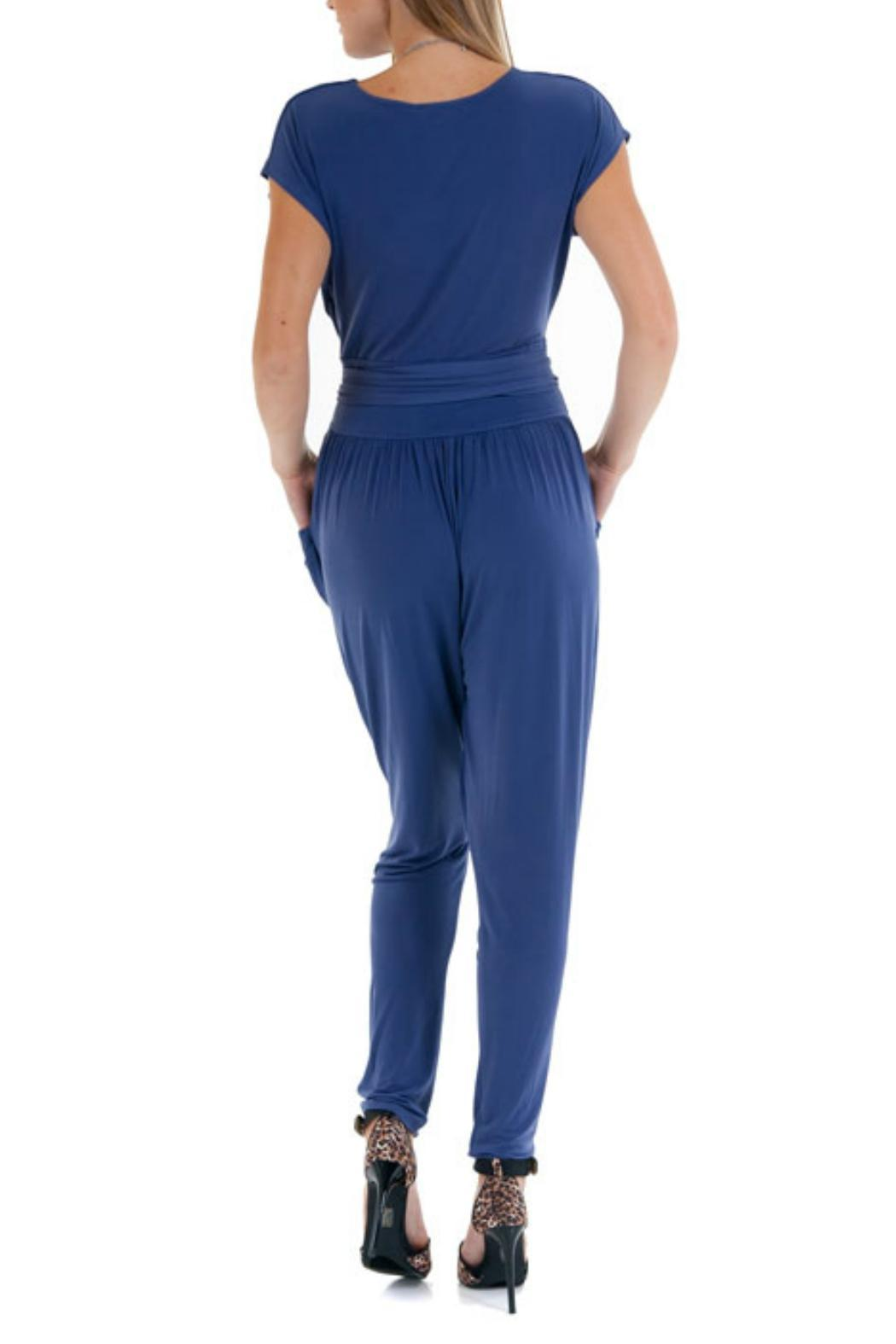Double Zero Cap Sleeve Jumpsuit - Front Full Image