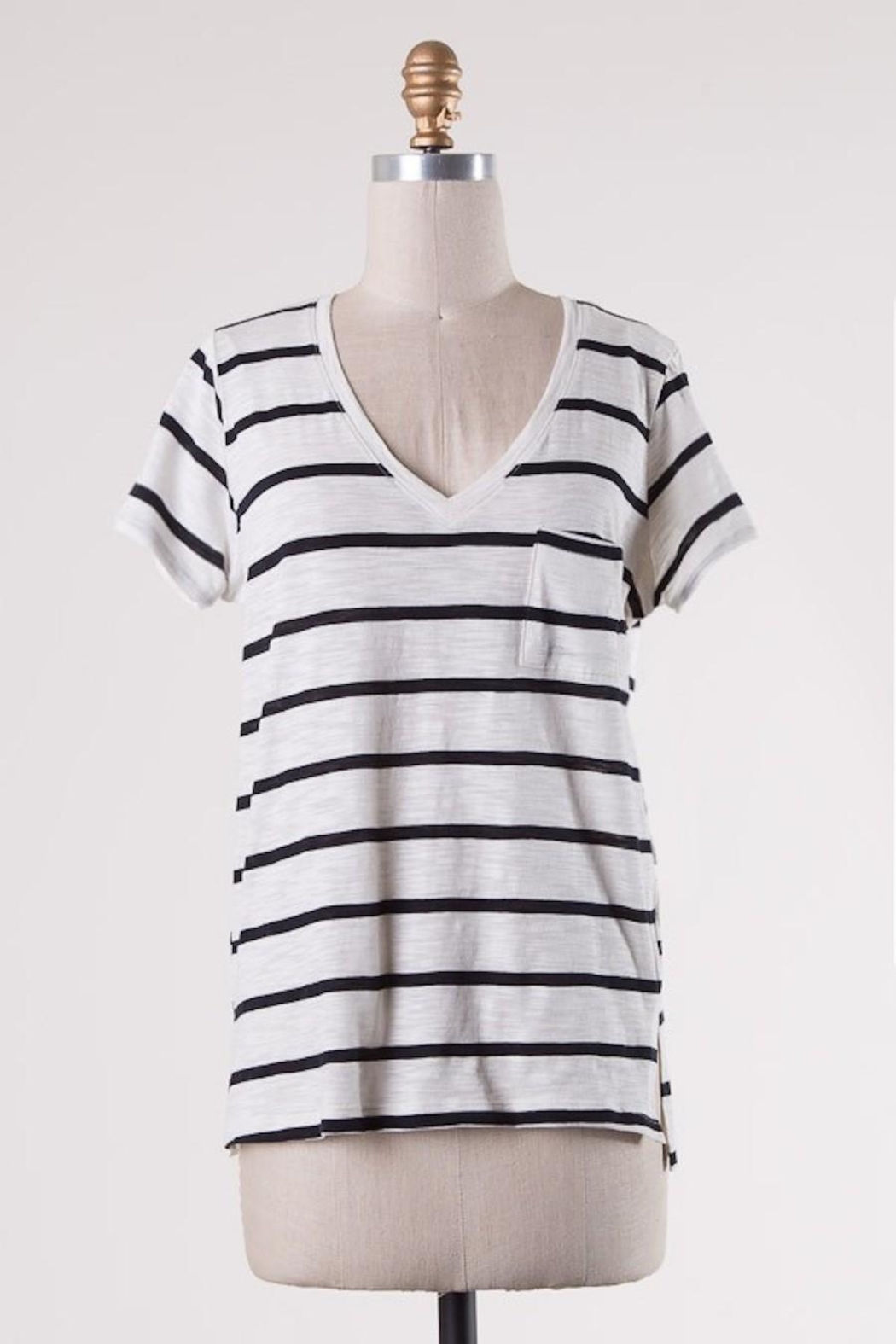 Double Zero Classic Stripes Tee - Front Cropped Image