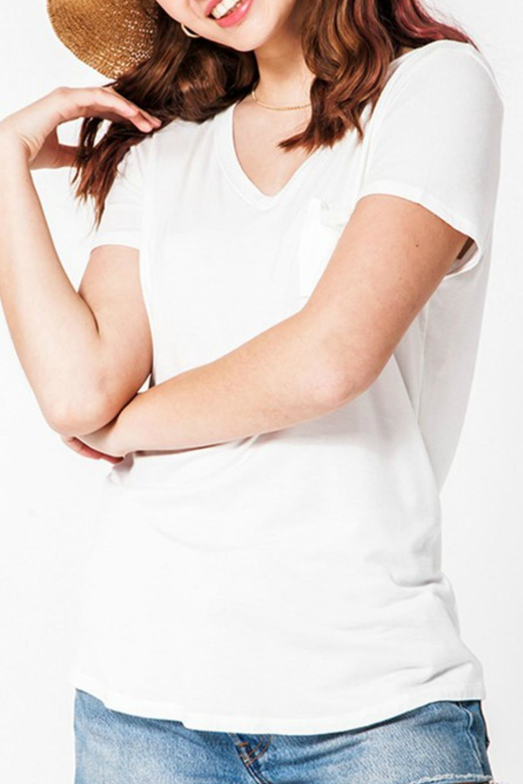 Double Zero Classic V-Neck Tee - Front Cropped Image