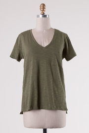 Double Zero Classsic Olive Pocket-Tee - Front cropped