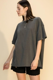 Double Zero Distressed Oversized T Shirt - Front cropped