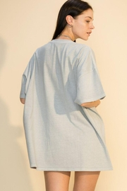 Double Zero Distressed Oversized T Shirt - Front full body
