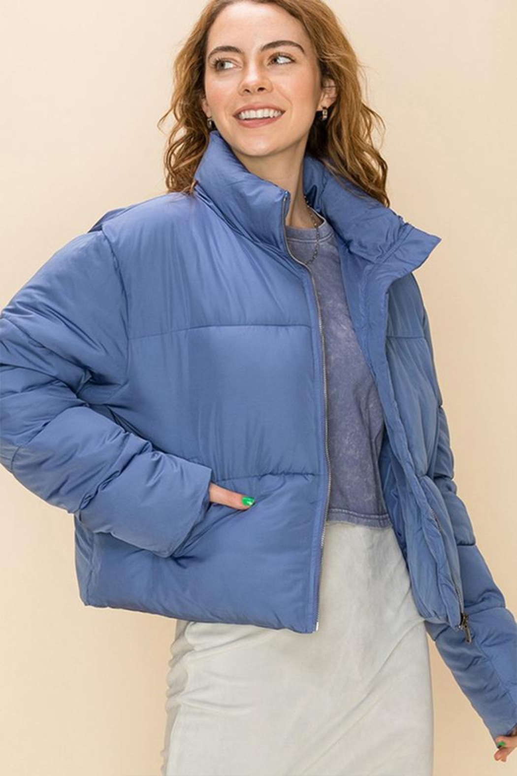 Double Zero Draw-Cord Puffer Jacket - Main Image