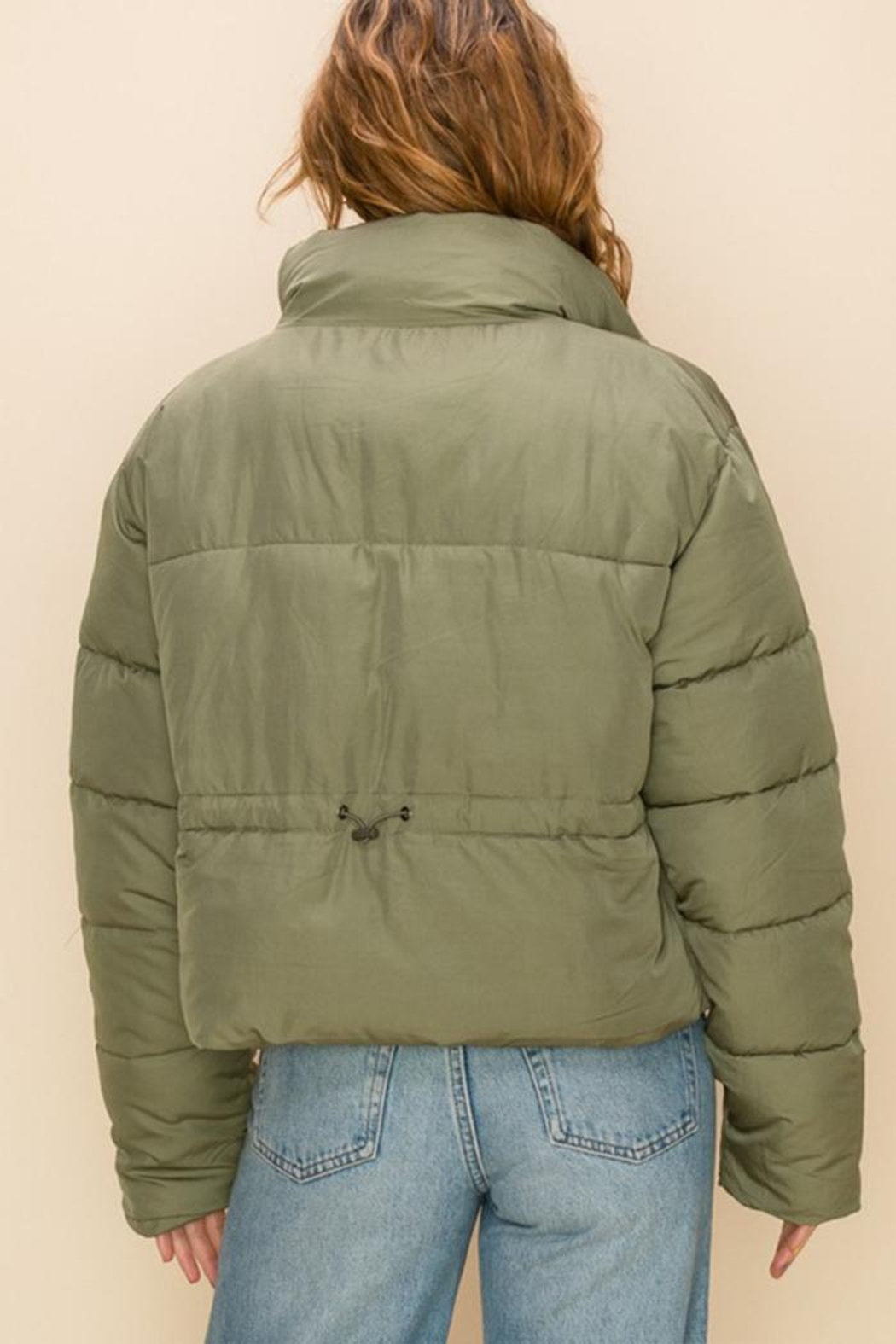 Double Zero Draw-Cord Puffer Jacket - Side Cropped Image