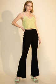 Double Zero Elastic High Waist Flare Pants - Product Mini Image