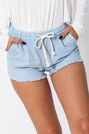 Double Zero Fringe Hem Shorts - Product Mini Image