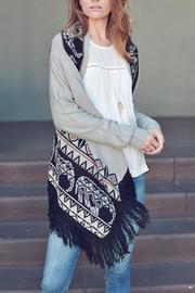 Double Zero Fringe Open Cardigan - Front cropped