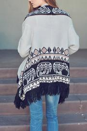 Double Zero Fringe Open Cardigan - Side cropped