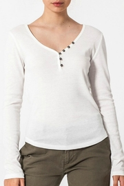 ALB Anchorage Henley V-Neck Top - Front cropped