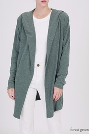 Double Zero Hooded Open Cardigan - Product Mini Image