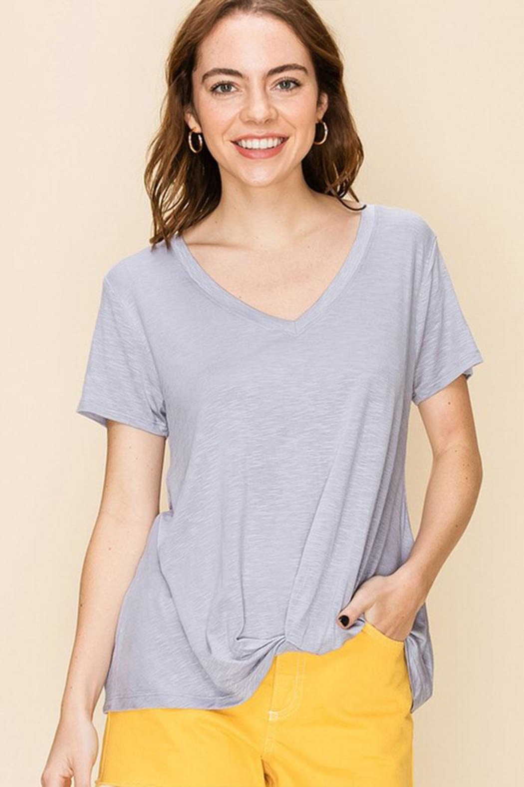Double Zero Knot Front Tee - Front Cropped Image