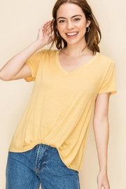 Double Zero Knot Front Tee - Front cropped