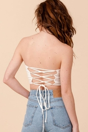 Double Zero Lace-Up Tube Top - Side cropped