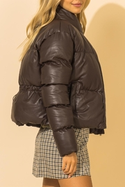 Double Zero Leather Puffer Jacket - Side cropped