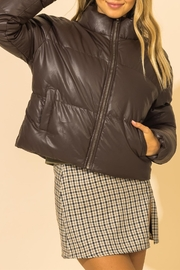 Double Zero Leather Puffer Jacket - Other