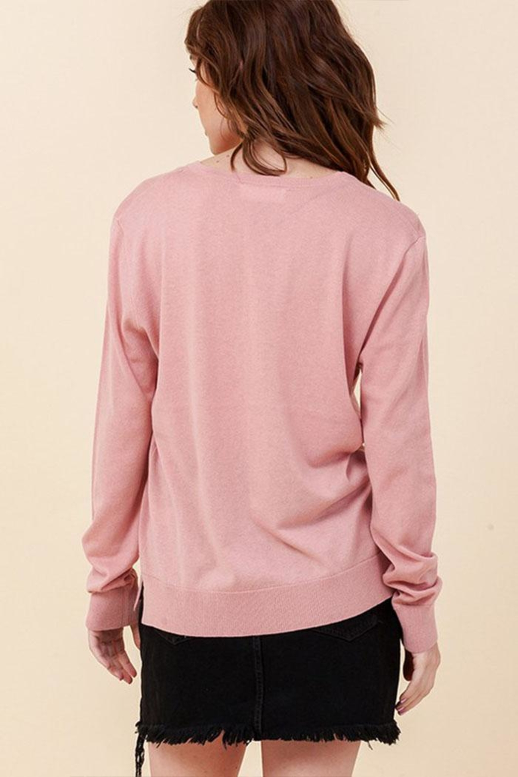 Double Zero Lightweight V-Neck Sweater - Front Full Image
