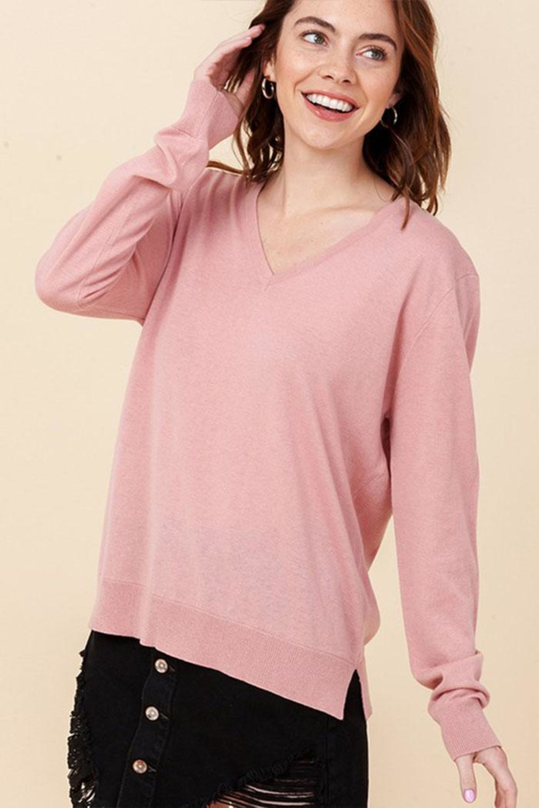 Double Zero Lightweight V-Neck Sweater - Main Image