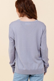 Double Zero Lightweight V-Neck Sweater - Front full body