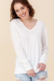 Double Zero Lightweight V-Neck Sweater - Front cropped