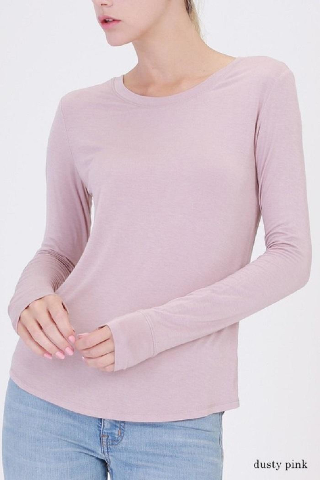 Double Zero Long Sleeve Top - Front Cropped Image