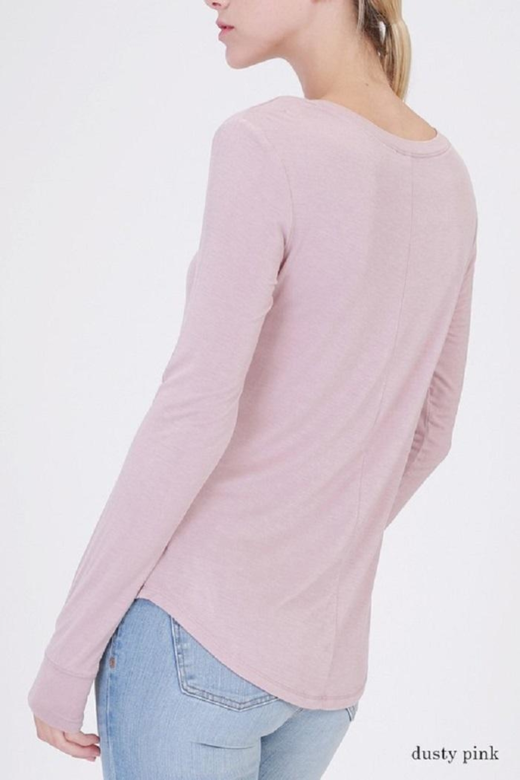 Double Zero Long Sleeve Top - Front Full Image