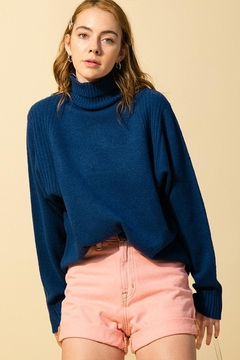 Double Zero Loose-Fit Turtleneck Sweater - Product List Image