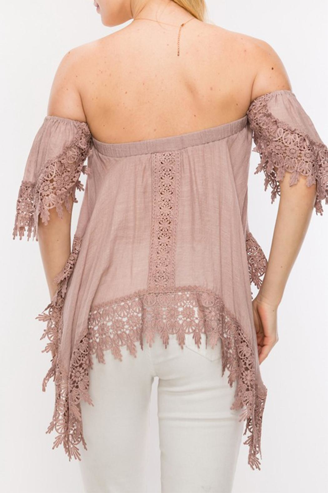 Double Zero Off Shoulder Blouse - Side Cropped Image