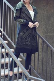 Double Zero Olive Sweater Cardigan - Front full body