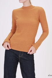 Double Zero Ribbed Mockneck Top - Product Mini Image