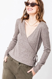 Double Zero Ribbed Wrap Top - Product Mini Image