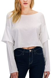 Double Zero Sleeve Detail Top - Front cropped