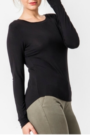 Double Zero Solid Long-Sleeve Top - Product Mini Image