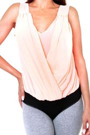 Double Zero Stretchy Bodysuit Blouse - Front cropped