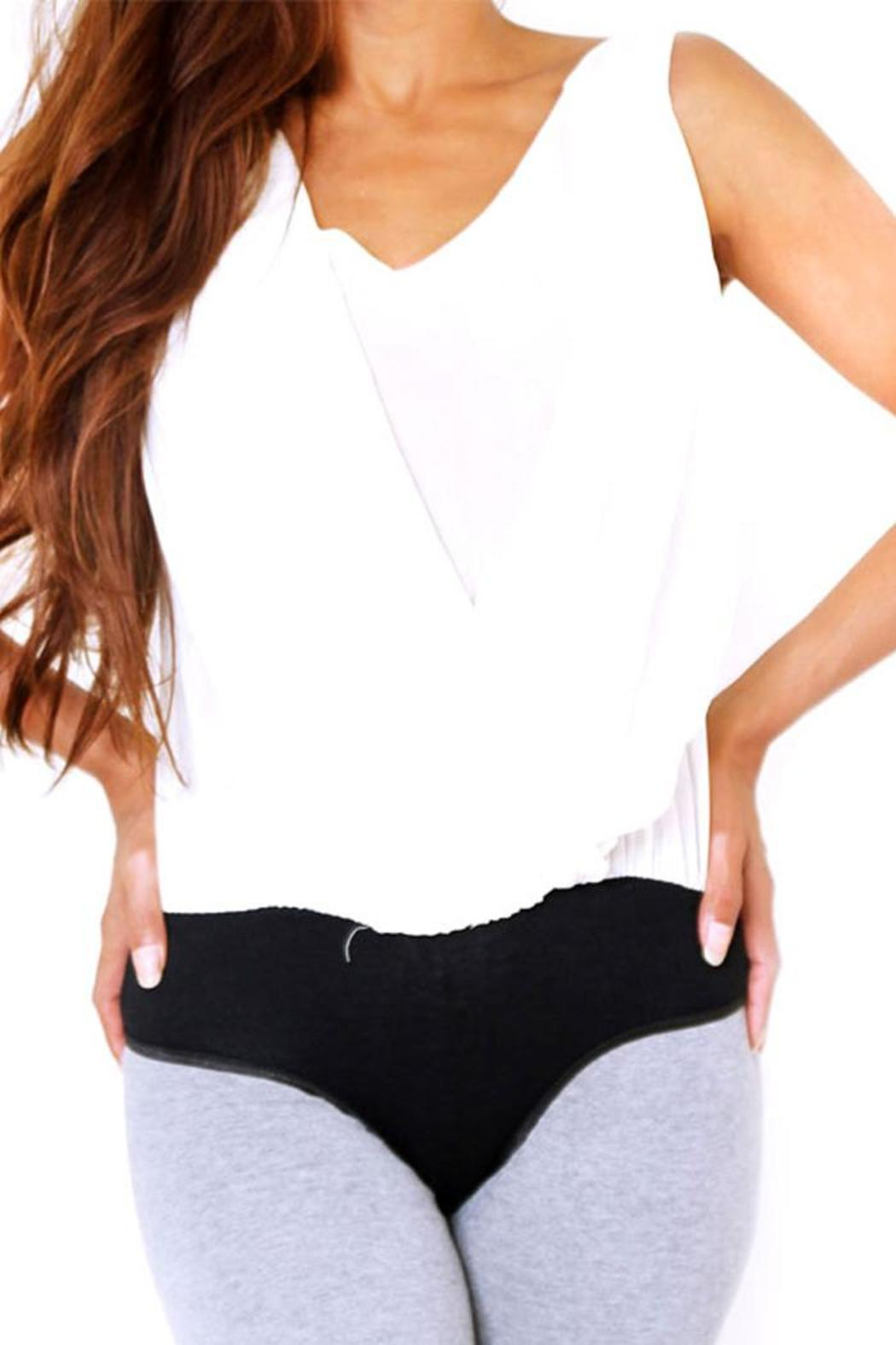 Double Zero Stretchy Bodysuit Blouse - Front Cropped Image