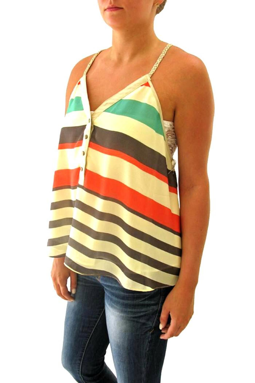 Double Zero Striped Tank - Front Full Image
