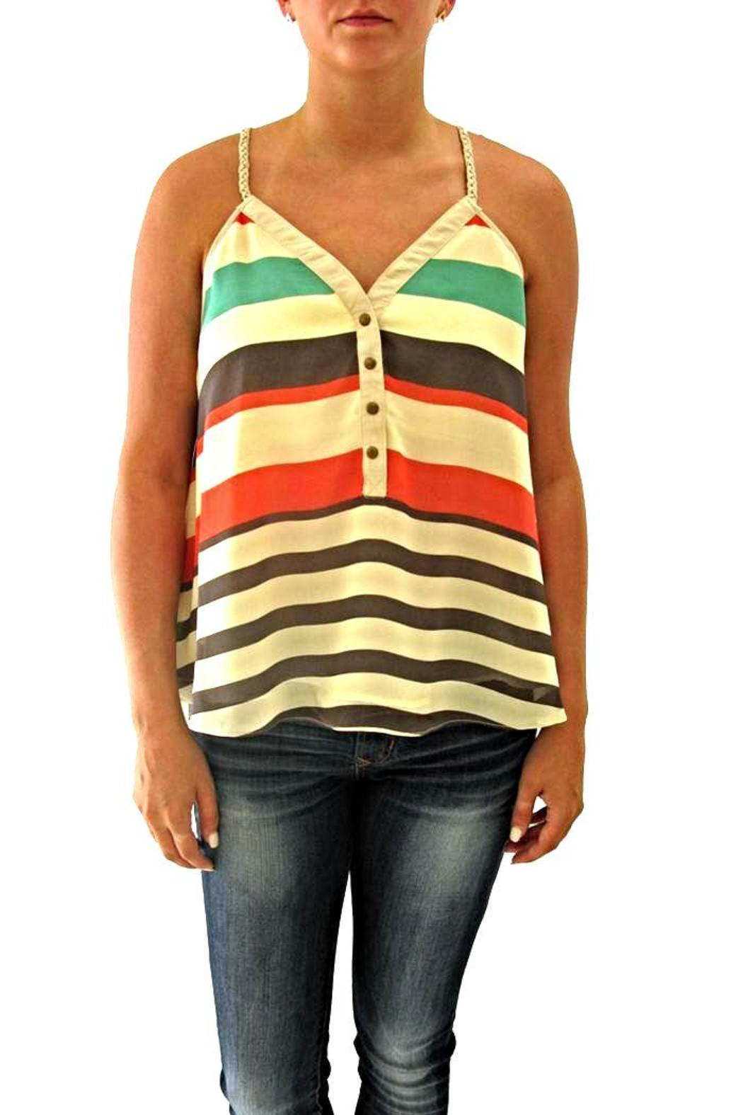 Double Zero Striped Tank - Front Cropped Image