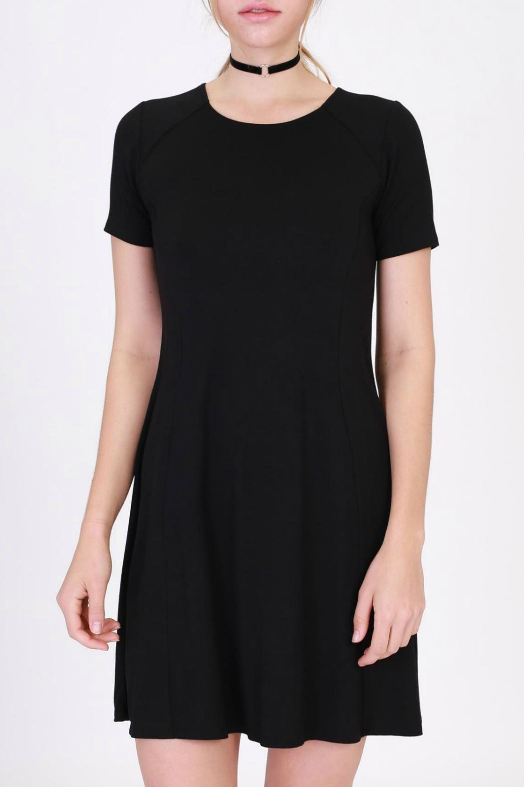 Double Zero T-Shirt Dress - Front Cropped Image