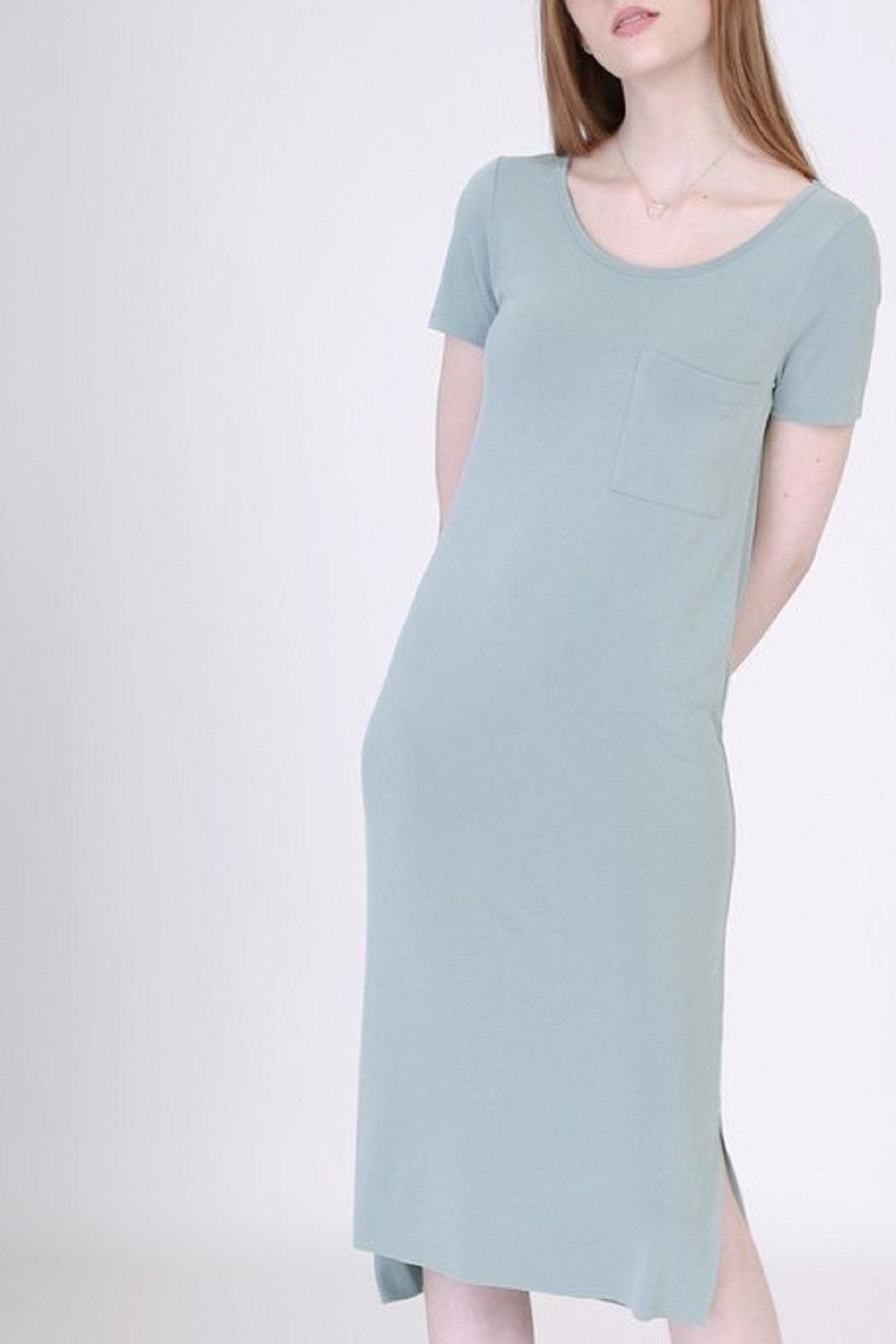 Double Zero Tee Shirt Dress - Front Cropped Image