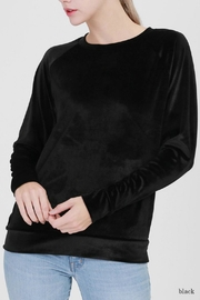 Double Zero Velvet Sweatshirt Top - Product Mini Image