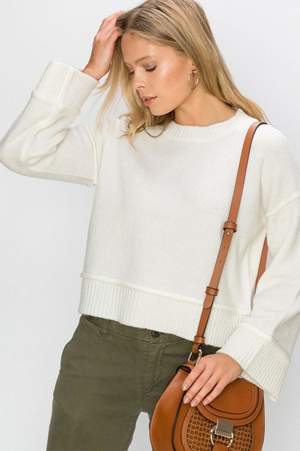 Double Zero Wide Sleeve Pullover - Main Image