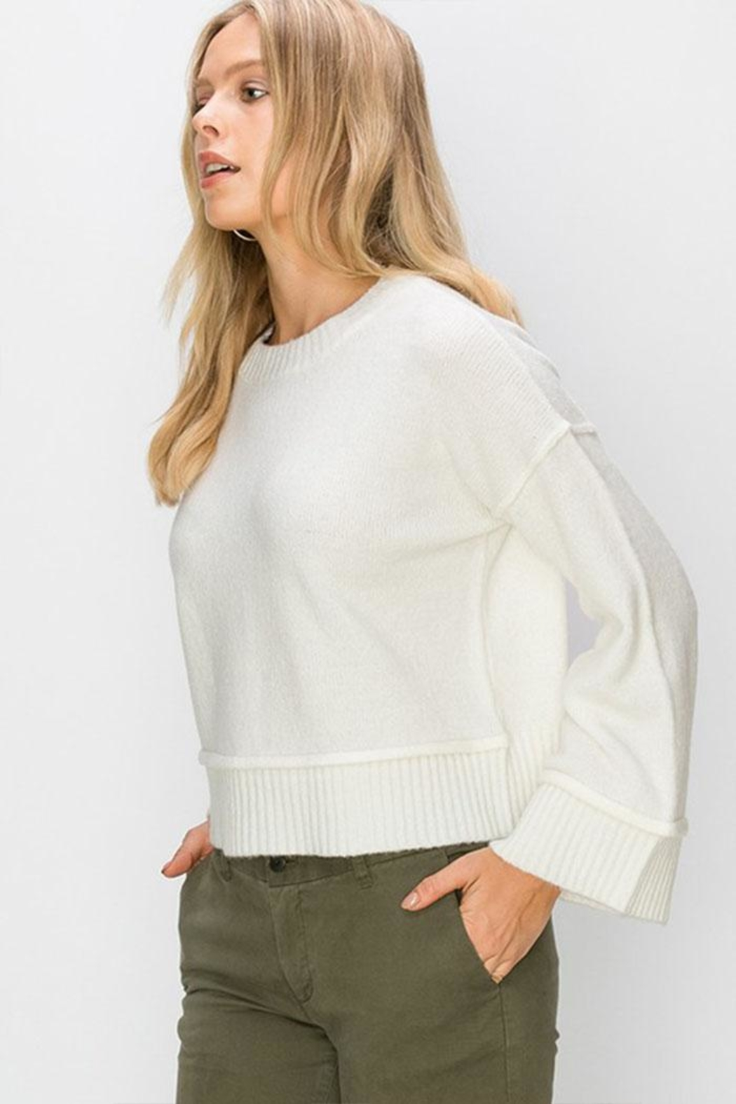 Double Zero Wide Sleeve Pullover - Front Full Image