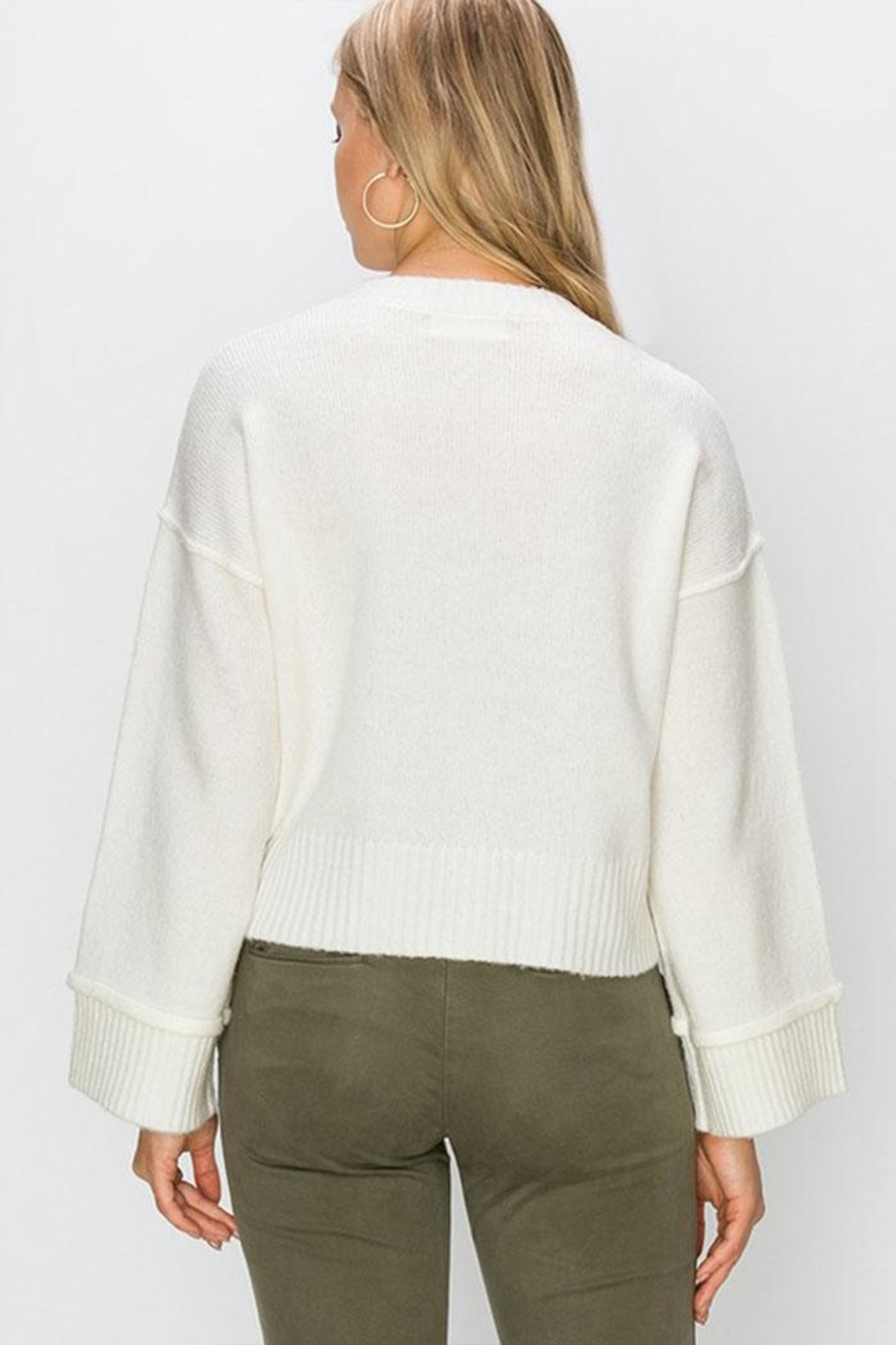 Double Zero Wide Sleeve Pullover - Side Cropped Image