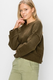 Double Zero Wide Sleeve Pullover - Front full body