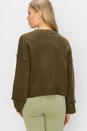 Double Zero Wide Sleeve Pullover - Side cropped