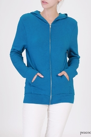 Double Zero Zip Up Hoodie - Front cropped