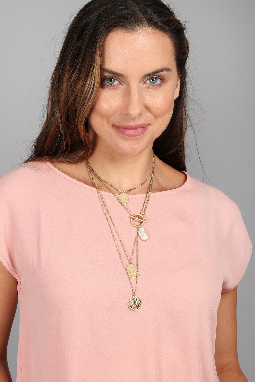 Saachi Doubloon Layered Necklace - Main Image