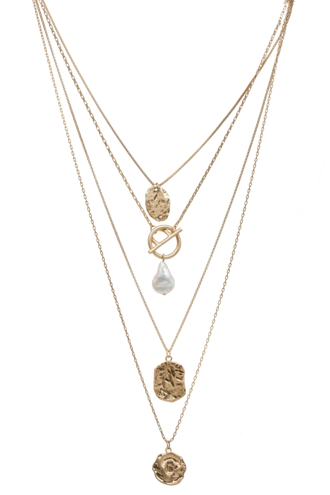Saachi Doubloon Layered Necklace - Side Cropped Image