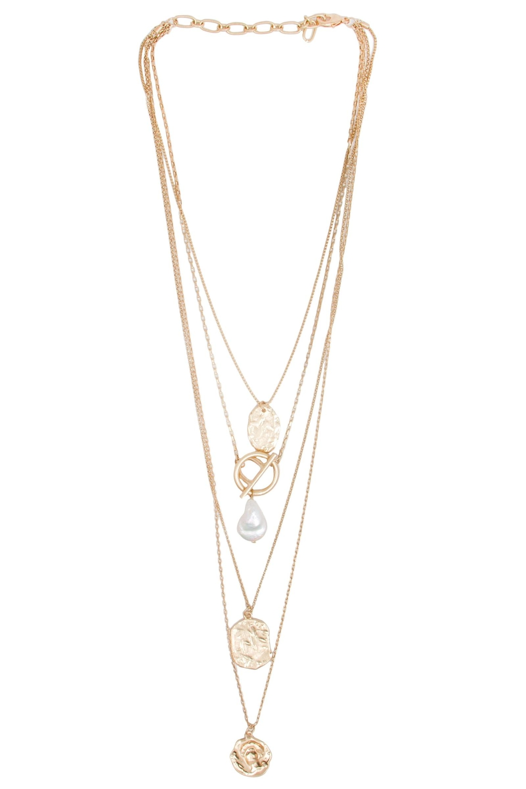 Saachi Doubloon Layered Necklace - Back Cropped Image